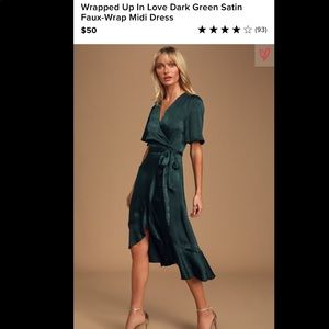 Lulus satin dress! Only worn once!
